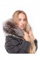 Fur Hood Exquisit XXL Silberfuchs excellent quality
