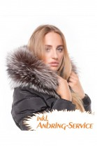 Fur Hood Exquisit XXL Silberfuchs attaching Service Special