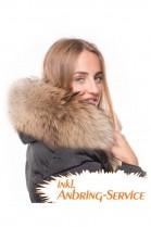 Fur Hood Exquisit XXL dark brown attaching Service Special