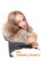 Fur Hood Exquisit XXL Tan attaching Service Special