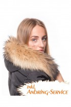 Fur Hood Exquisit XL brown attaching Service Special