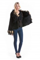 Fashion fur jacket fox rabbit Style Fashion Luxury Design