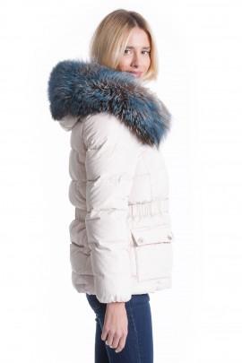 Fellkapuze GIGANT XXXL Fashion Blue Touch inkl. anbringen