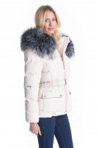 Fur Hood GIGANT XXXL Fashion Steel Blue attaching Service