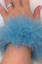 Nerz Pelz Fell Haargummi auch Armband Blaufuchs Türkis