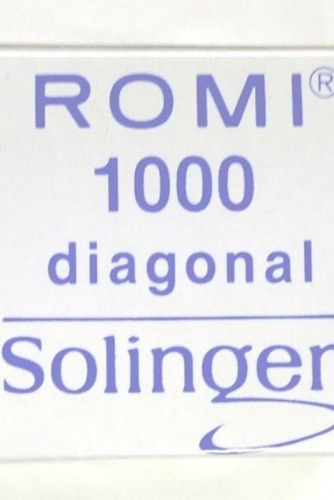 0,20 mm Diagonal Kürschner Klingen ROMI Solingen