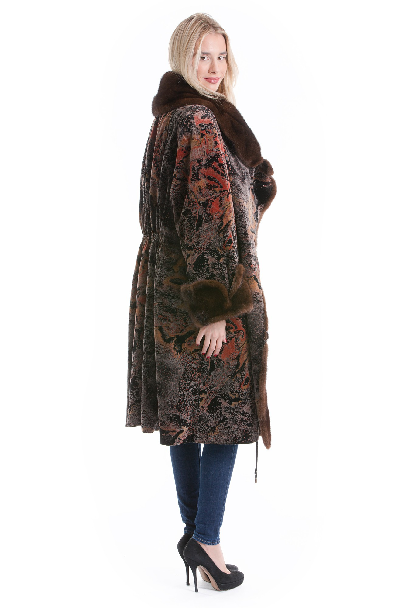 Buy Luxury Fabric Coat Fur Fashion Look Fur Luxury Style Online At Your Furs Online Shop