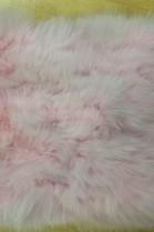 Pelz Fell Kissen Blaufuchs Rosa schönes Wohn Design