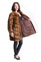 Mink jacket combined with nutria fur Style Fur Fashion Design