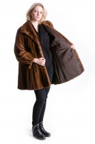 Mink jacket pastel brown fur Mink Fur Style Luxury