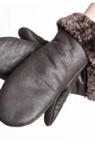 Christ Lammfell Original Fäustlinge Pelz Handschuhe braun