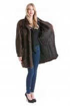 Mink jacket with leather coat Fashion combines luxury fur Mink