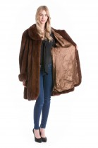Mink swinger Brown luxury fur jacket Mink Fur Fashion Design