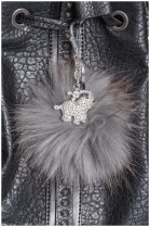Fuchs Bommel hanger gray elephant Style Fur Fashion