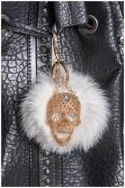 Kanin Bommel Chain Skull Design Style Fur Fashion