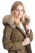 SAGA FURS Fur Hooded XXL fur collar with fur attaching Service