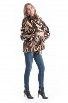Mink Jacket colorful fur fashion mink jacket multicolor fur Style