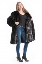 Nerz Swinger schwarz Luxus Pelz SAGA Mink coat black Fell