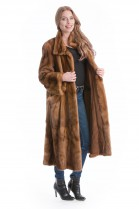 Nerz Mantel Swinger pastell Skin to Skin Mink coat Pelz Mode