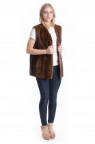 Fur vest mink brown fur Mink vest Fashion Style Fashion