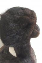 Real fur hat men cap muskrat brown
