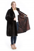 Mink jacket Swinger brown luxury style fur SAGA MINK