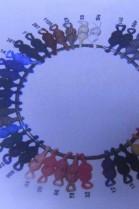 Fur ball crochet loop handle different colors
