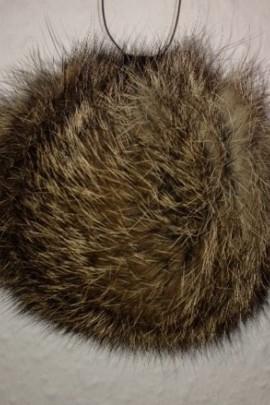 Rabbit fur pompom fur bobble - Beige Brown (B-WARE!)