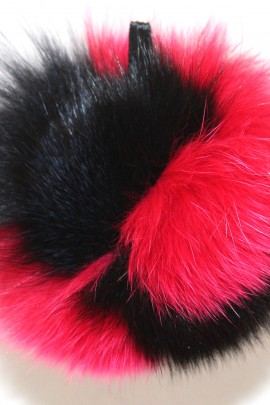 Fell Bommel blue fox fur Bommel Bommel Fur - Black