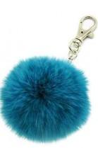 Premium Mini Fell Bommel Keychains Cyan Kanin