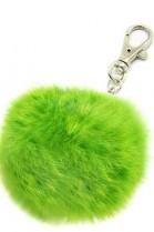 Premium Mini Fell Bommel Keychains Green Kanin