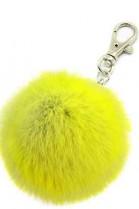 Premium Mini Fellbommel Schlüsselanhänger Lemon Kanin