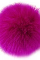 Bommel aus Fell Pink