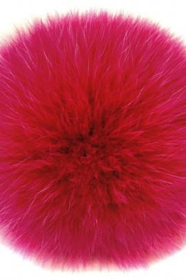 Bommel Fur Dark-Pink