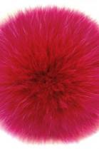 Bommel aus Fell Dunkel-Pink