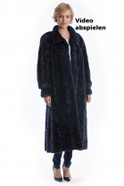 Blauer Nerz Mantel Luxus Mink Fashion Pelz Mode Luxus Style