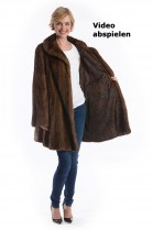 Long Mink luxury fur jacket brown genuine fur Saga Mink Fashion