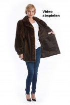 Mink Jacket brown demi buff mink fur style fashion fur Luxury
