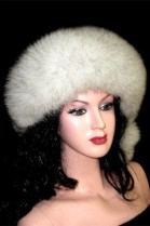 Blue fox fur headband band fur headband - Nature