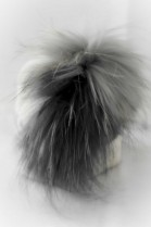 LUXURY real fur wool knit cap with Finraccoon stocking NEW