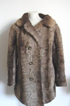 Fur fur fur jacket lamb brown