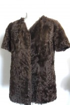 Fur fur vest lamb brown