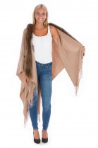 Stoff Cape mit Fell Besatz Pelz Mode Fashion Blogger
