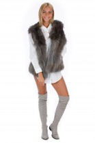 Fox Vest Gray Blogger Fur Fashion Fashion Style Fox Fur