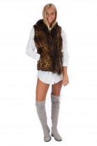Kanin Vest Finnraccoon Besatz Luxury Fur Fashion Fashion Blog