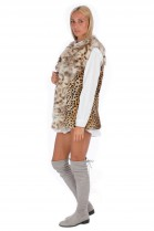 Fur vest leopard print fox collar Fashion Blogger Style