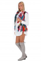 Colorful Fox Vest Fashion Multicolor Fur Style Blogger Fur