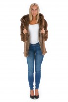 Pastel Mink Fur Coat Fashion Modern Blogger Mink