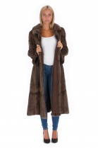 Leder Wendemantel Nerz Pelz Mode Fell Style Fashion Mink