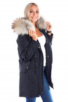 Parka with Nature brown Fellkapuze XXL Fashion Blogger Style